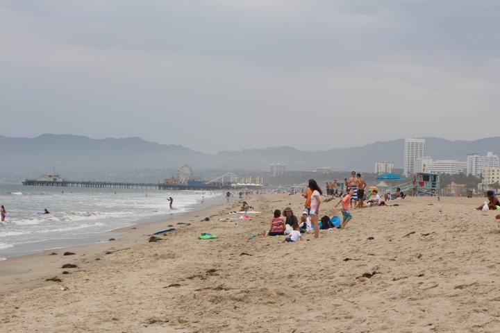 Santa Monica Beach on Sunday afternoon, August, 2014